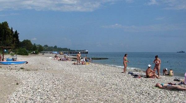 Лучшие пляжи Абхазии - пляжи Нового Афона