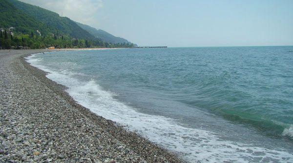 Лучшие и песчаные пляжи Абхазии, пляжный отдых в Гаграх, Пицунда, Сухуми 90