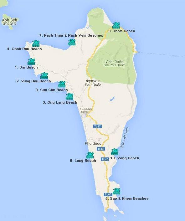 остров Фукуок карта